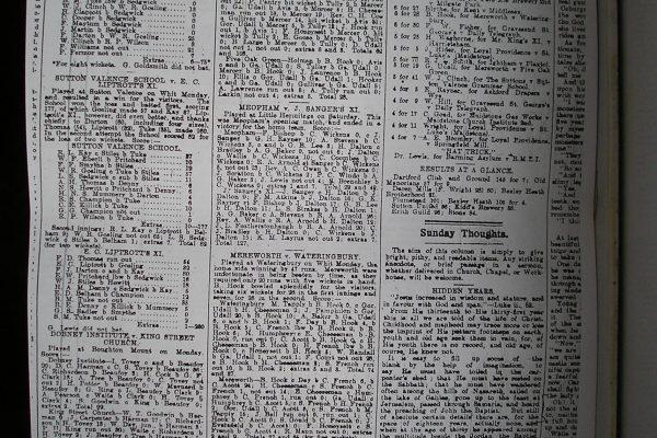Capel CC Match Report (Mereworth vs Five Oak Green)